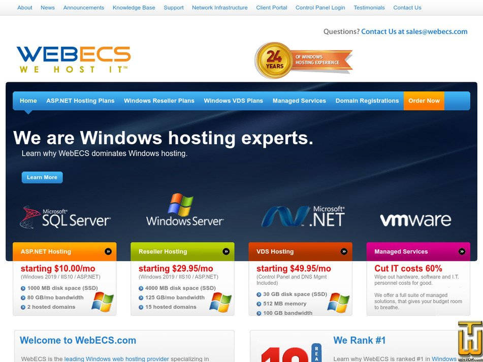 webecs.com Screenshot