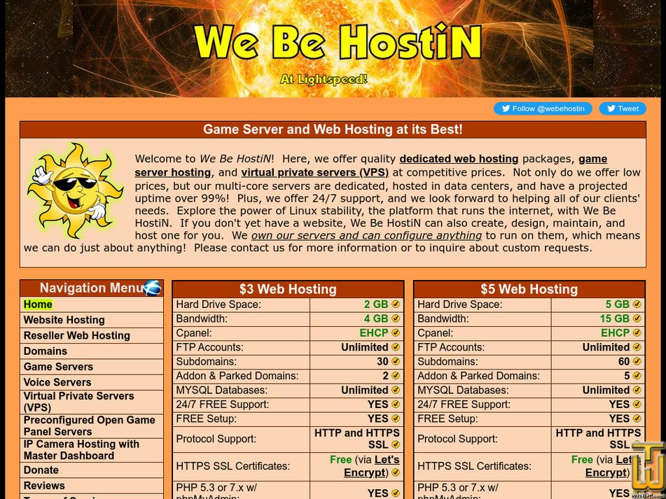 webehostin.com Screenshot