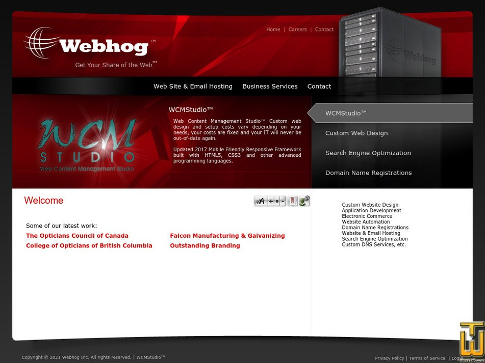 webhog.ca Screenshot