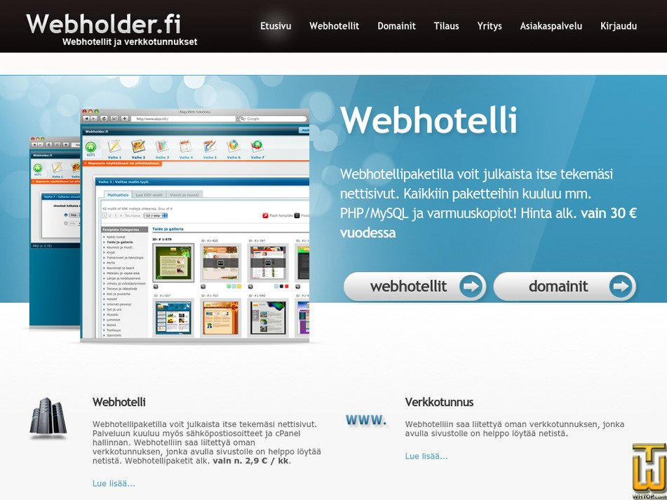 webholder.fi Screenshot