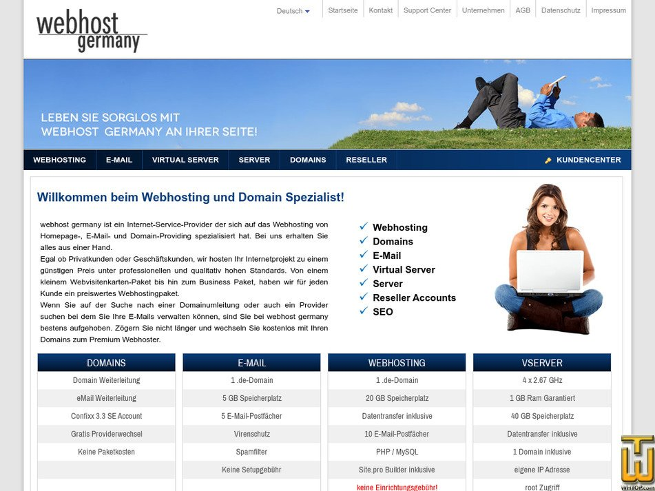 webhost-germany.de Screenshot