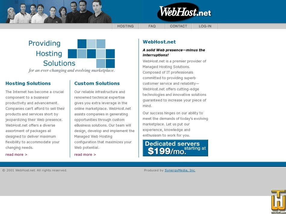 webhost.net Screenshot