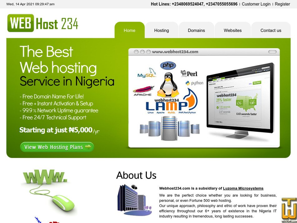 webhost234.com Screenshot