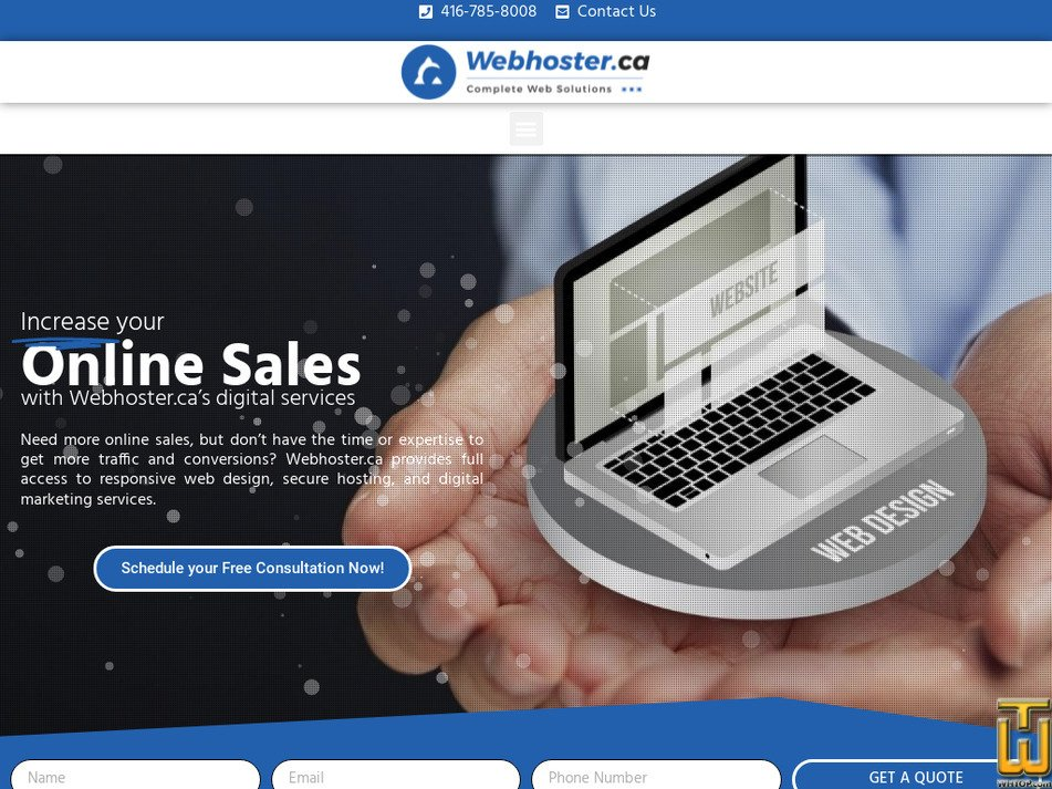 webhoster.ca Screenshot