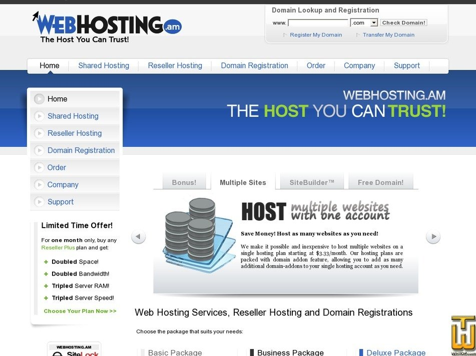 webhosting.am Screenshot