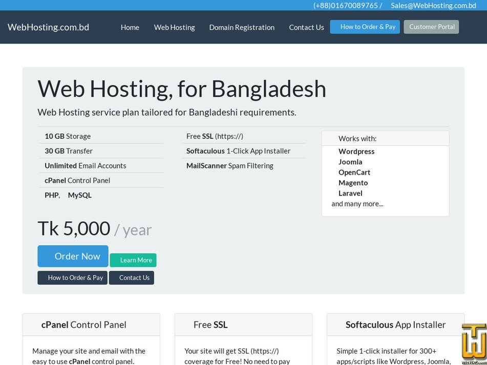 webhosting.com.bd Screenshot