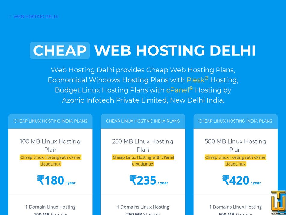 webhostingdelhi.com Screenshot