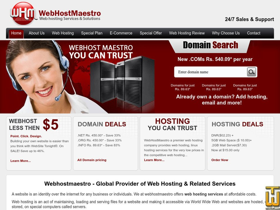webhostmaestro.com Screenshot