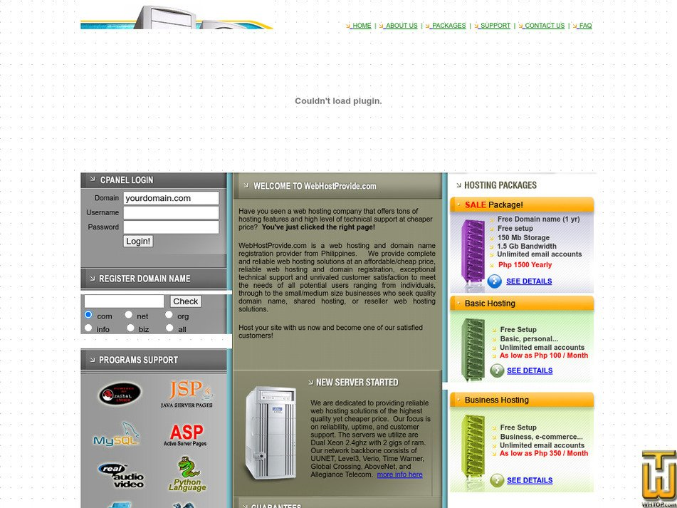 webhostprovide.com Screenshot