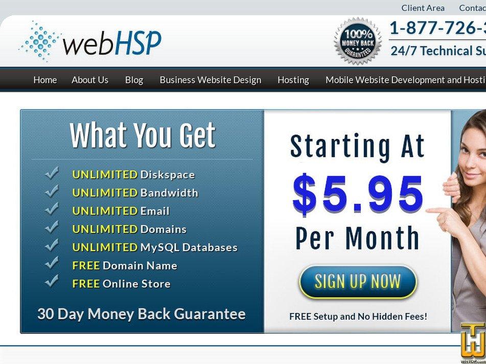 webhsp.com Screenshot