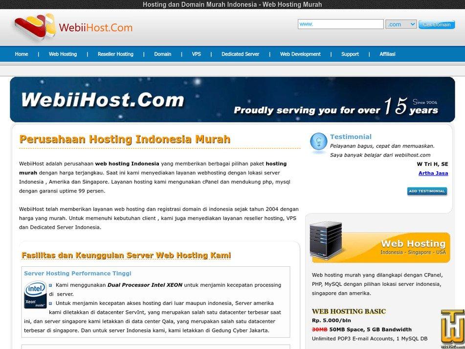 webiihost.com Screenshot