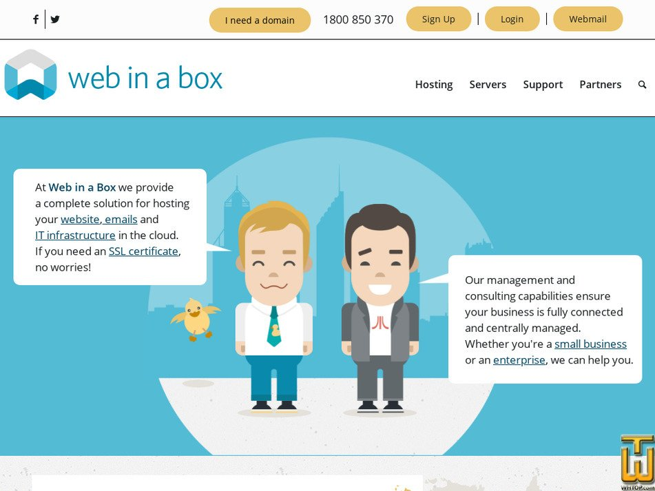 webinabox.net.au Screenshot
