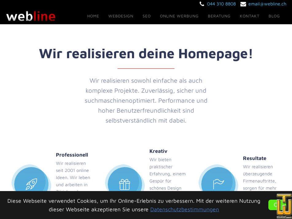 webline.ch Screenshot