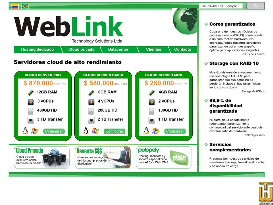 weblink.com.co Screenshot