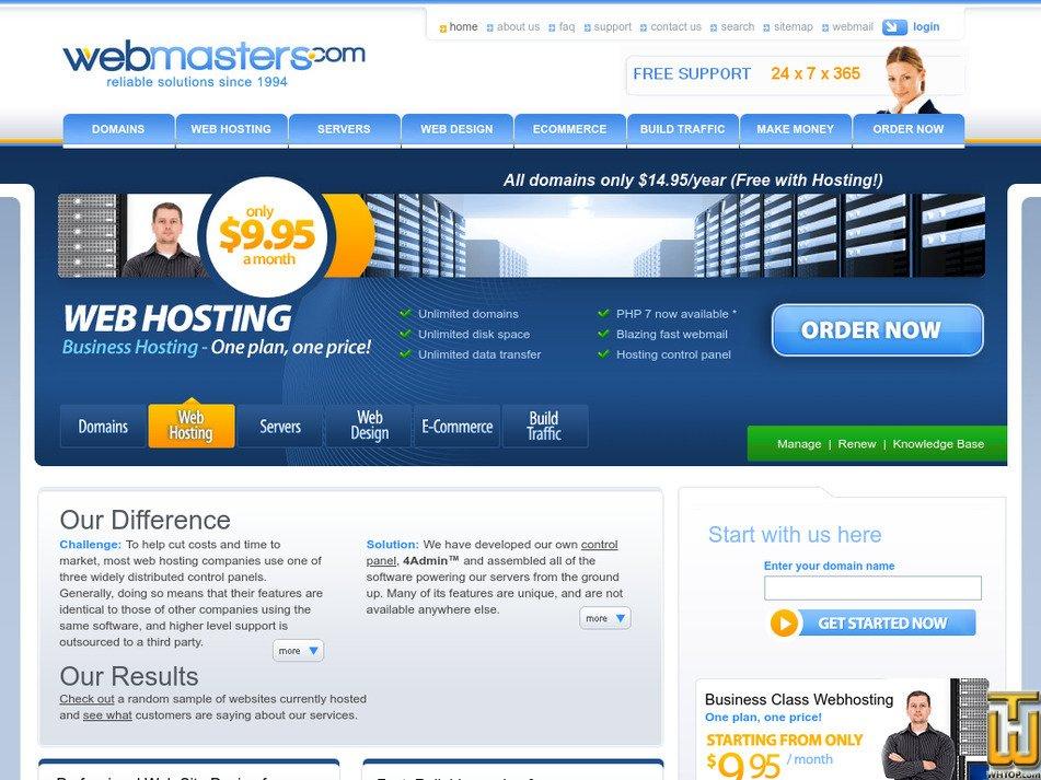 webmasters.com Screenshot
