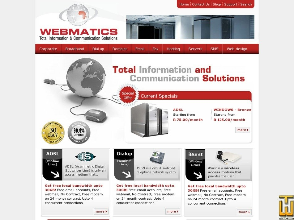webmatics.co.za Screenshot