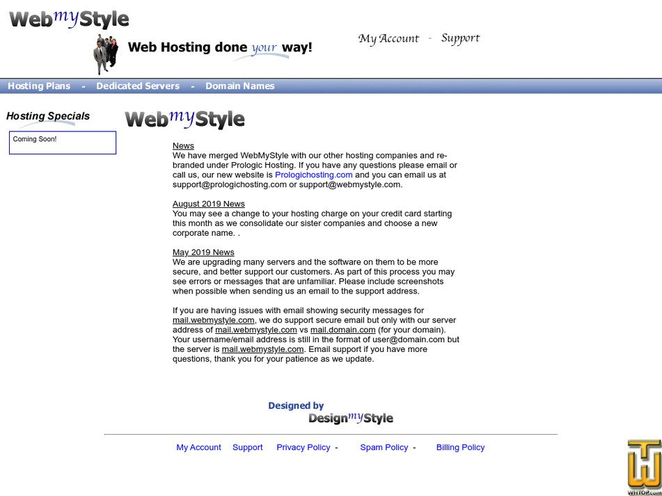 webmystyle.com Screenshot