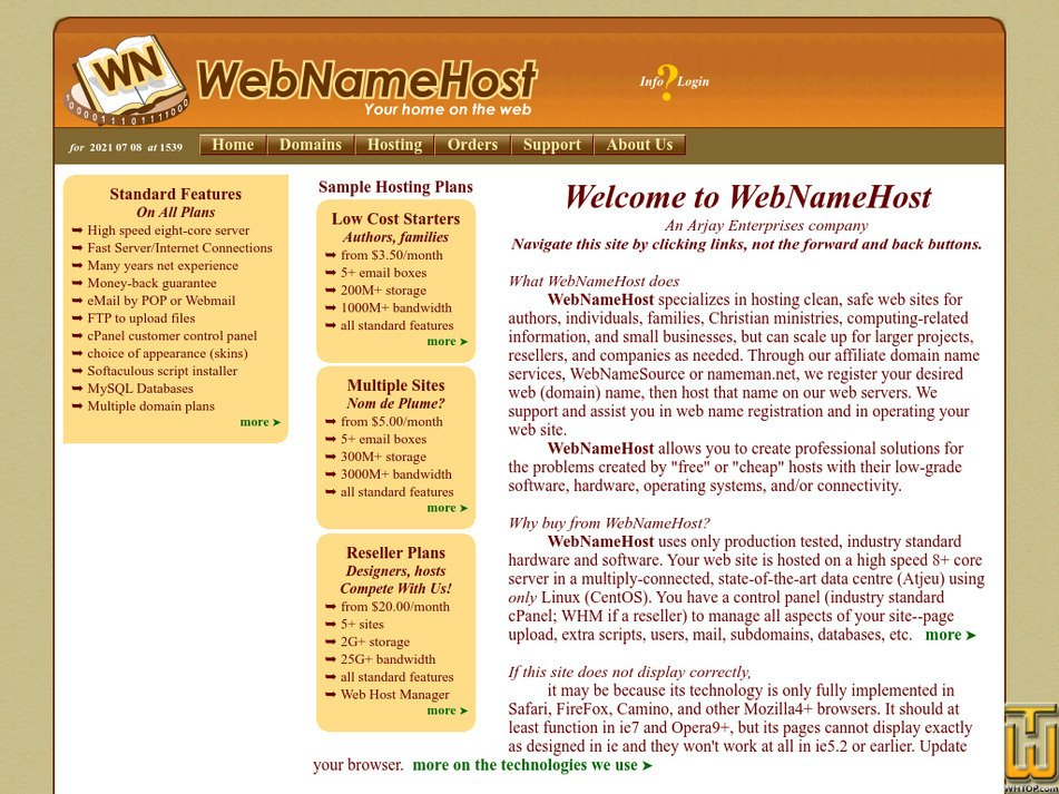 webnamehost.net Screenshot