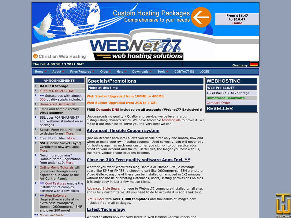webnet77.net Screenshot
