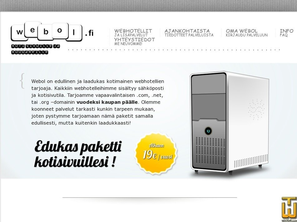 webol.fi Screenshot