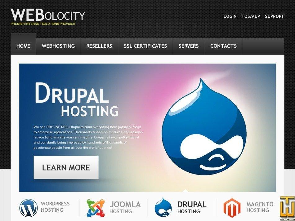 webolocity.com Screenshot