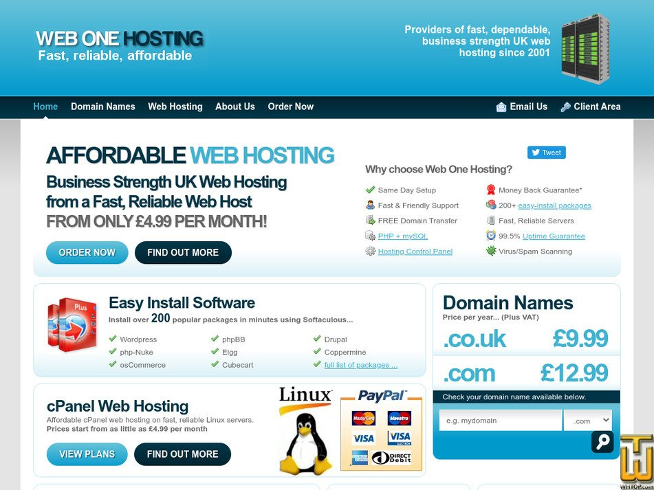 webonehosting.com Screenshot