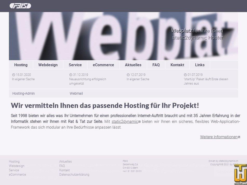 webplatz.ch Screenshot