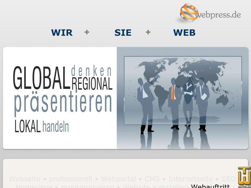 webpress.de Screenshot