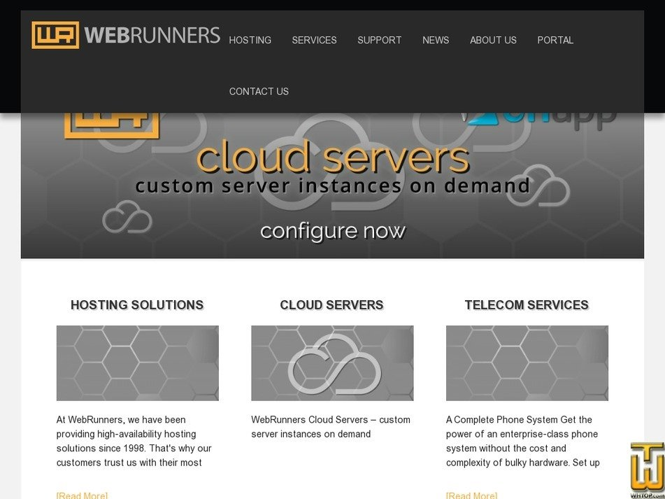 webrunners.com Screenshot