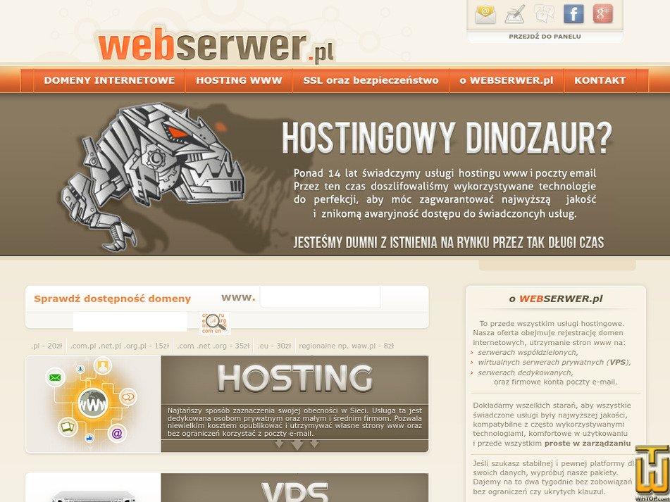 webserwer.pl Screenshot