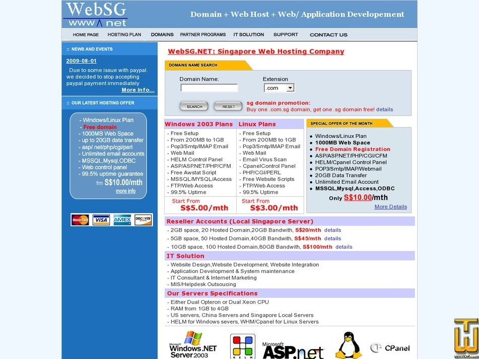 websg.net Screenshot