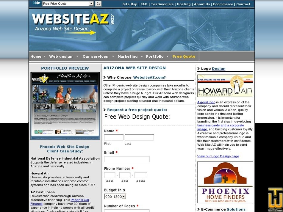 websiteaz.com Screenshot