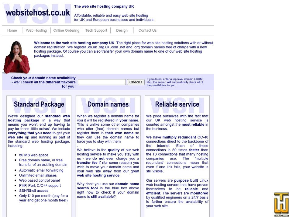 websitehost.co.uk Screenshot