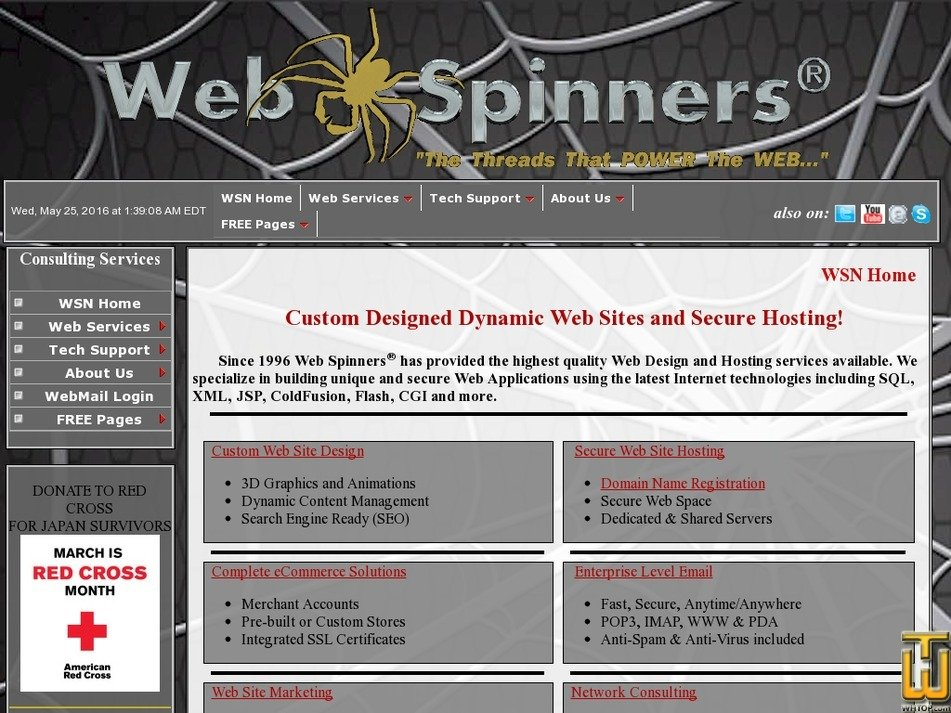 webspinners.net Screenshot