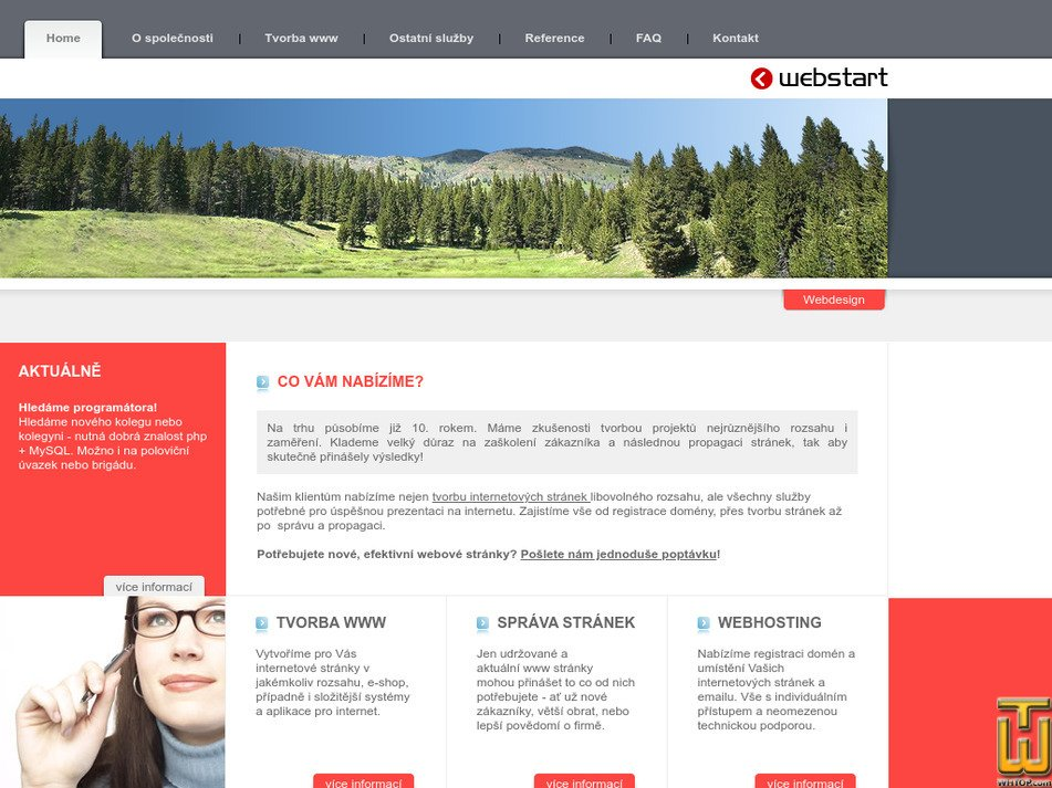 webstart.cz Screenshot