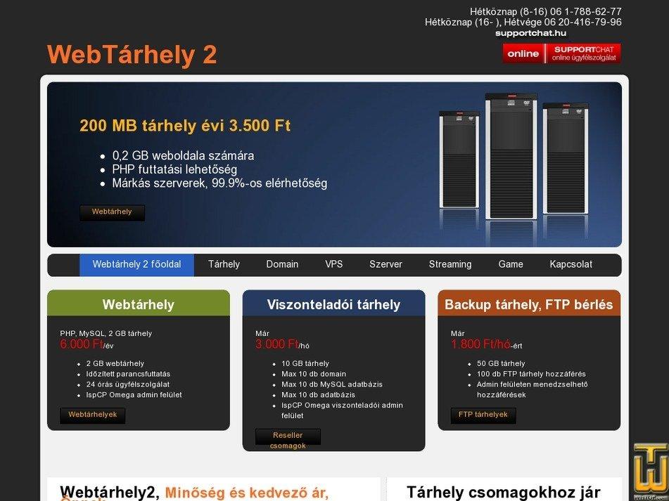 webtarhely2.hu Screenshot
