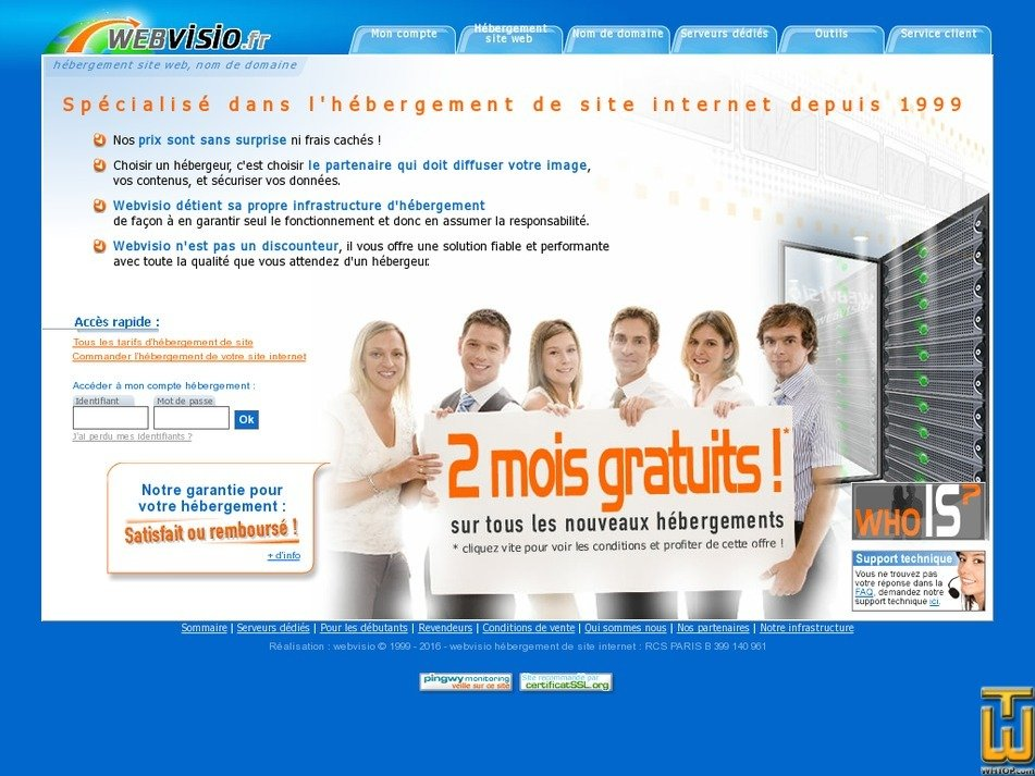 webvisio.fr Screenshot