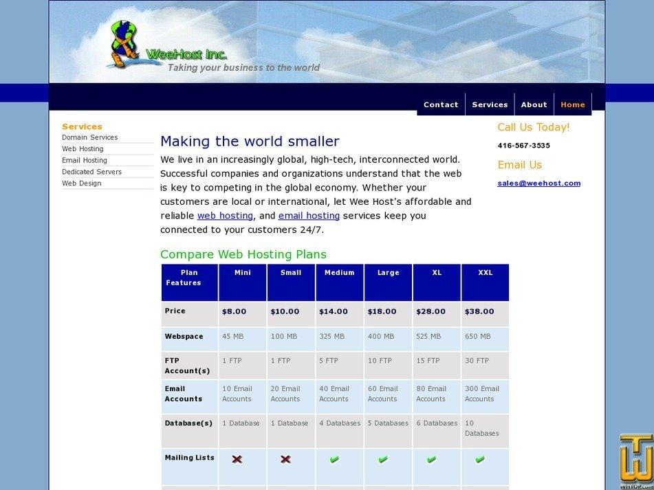 weehost.com Screenshot