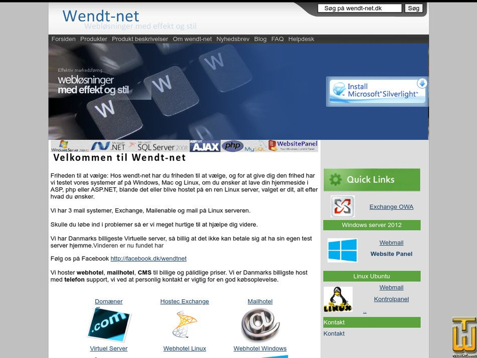 wendt-net.dk Screenshot