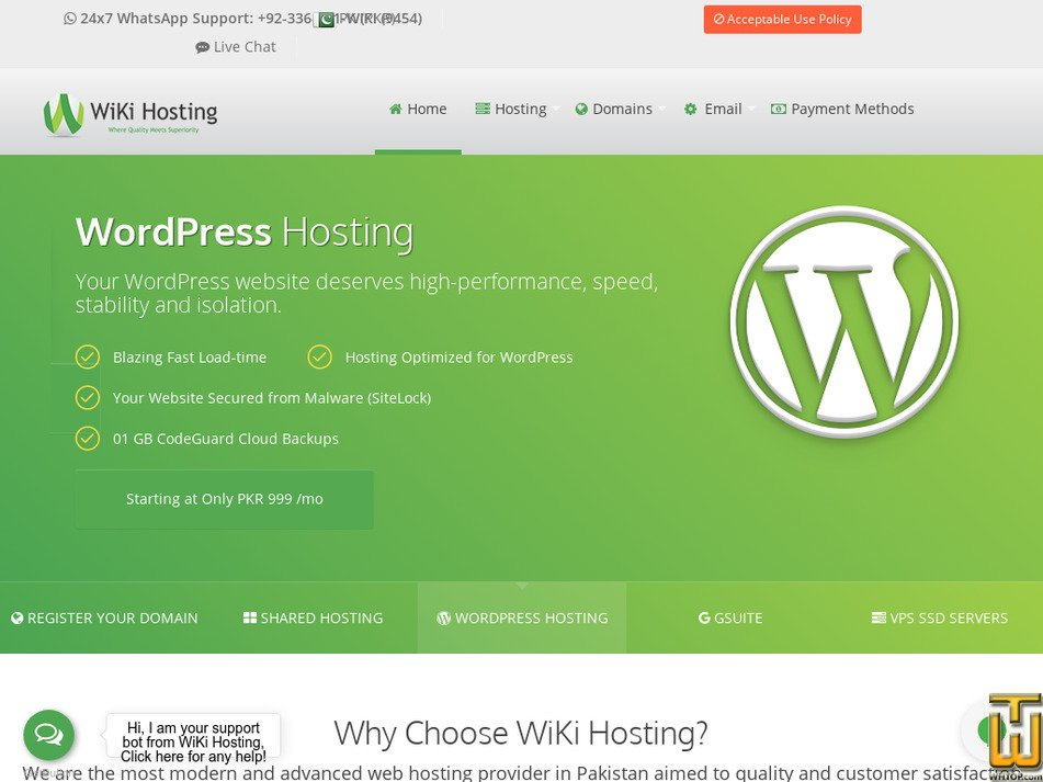 wikihosting.pk Screenshot