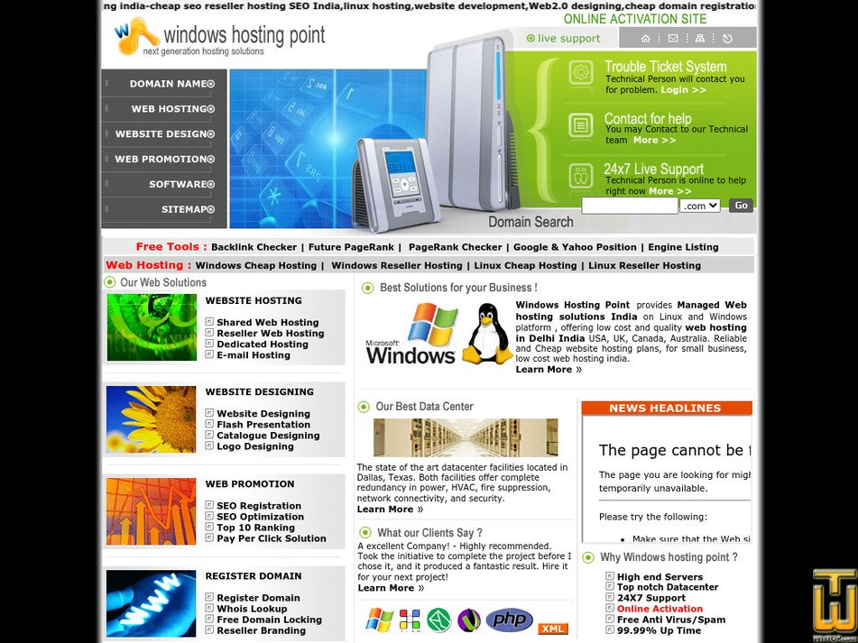 windowshostingpoint.com Screenshot