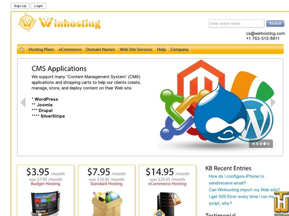 winhosting.com Screenshot
