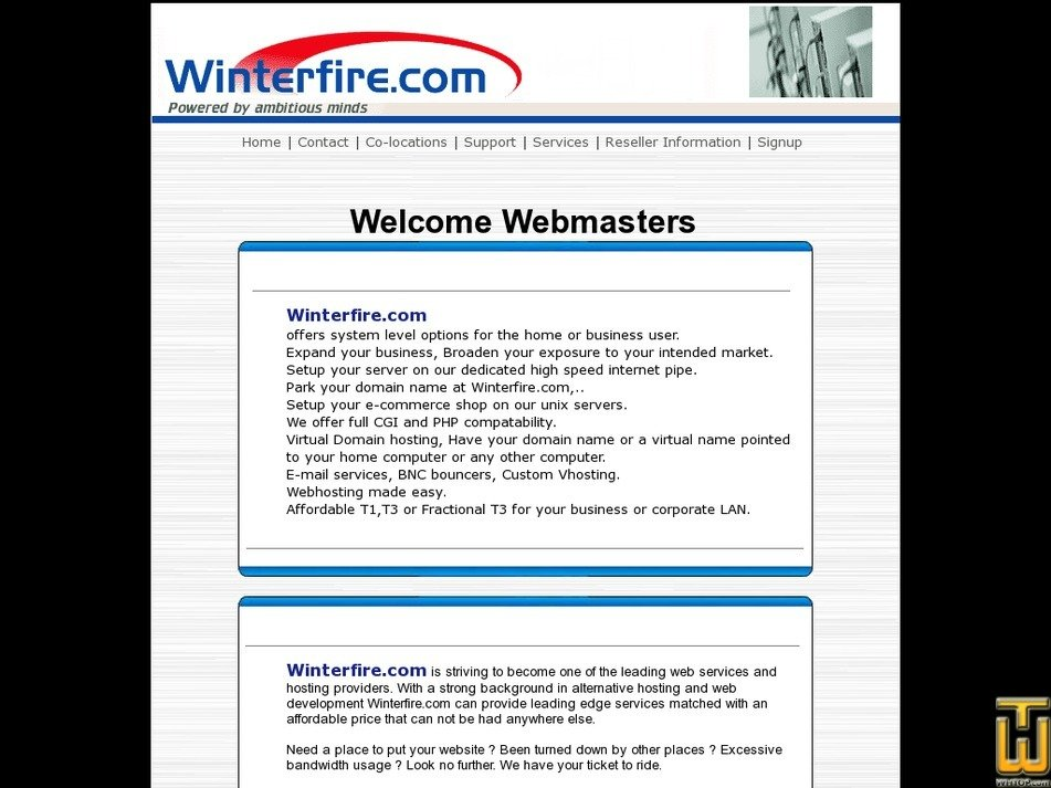 winterfire.com Screenshot