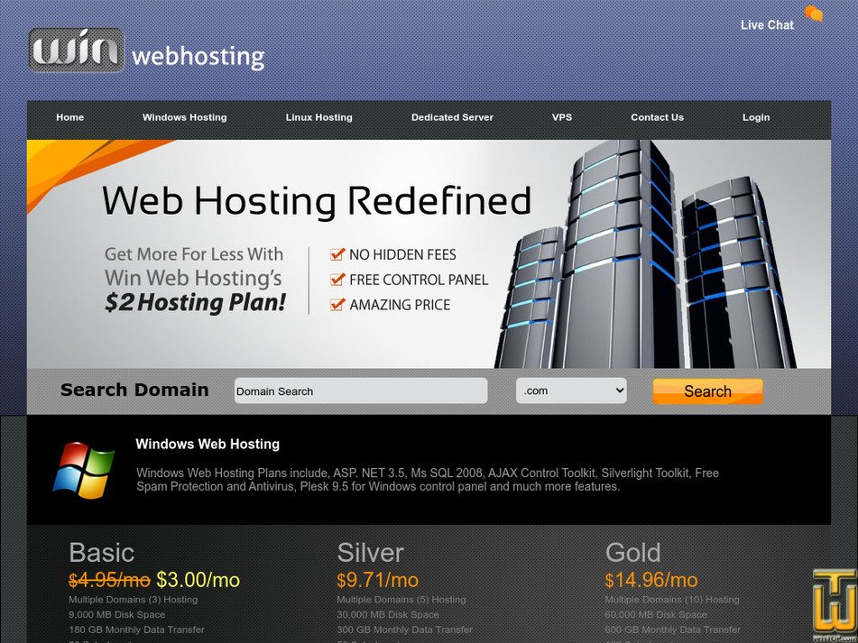 winwebhosting.com Screenshot