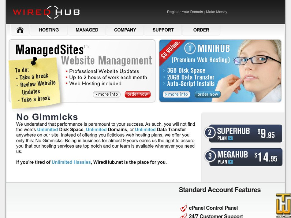 wiredhub.net Screenshot