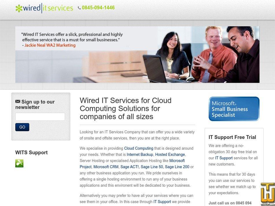 wireditservices.net Screenshot