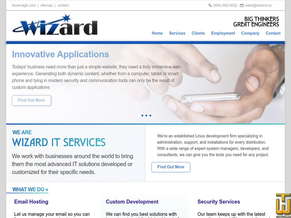 wizard.ca Screenshot