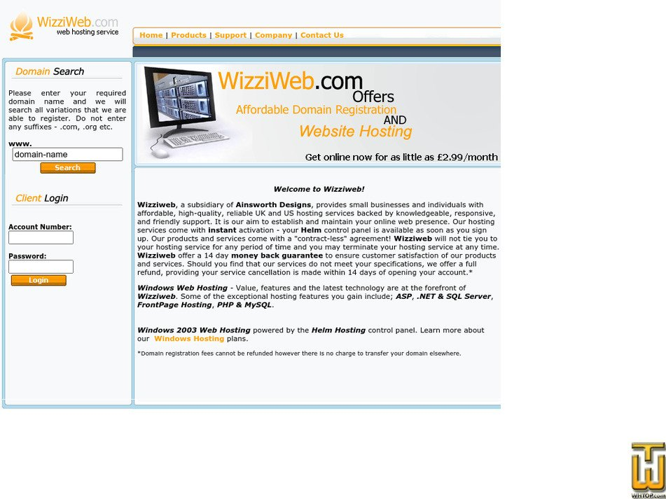 wizziweb.com Screenshot