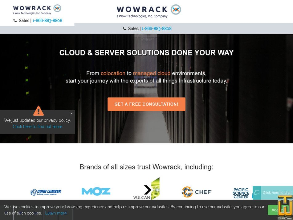 wowrack.com Screenshot