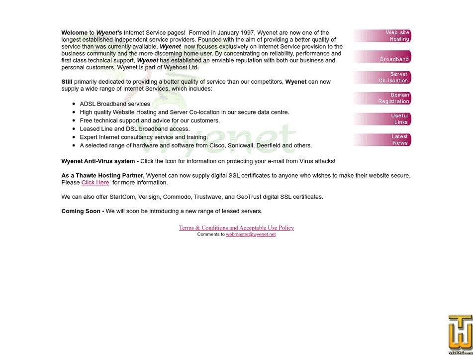 wyenet.co.uk Screenshot
